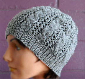 Free Knitting Pattern Lace Hat : Cables n Lace Hat - Allegro Lace - Crystal Palace Yarns