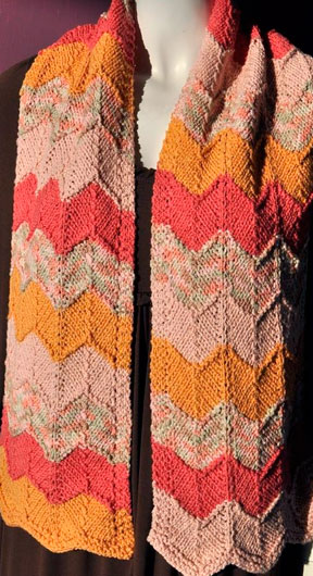 Chevron Scarf Cotton Twirl Crystal Palace Yarns