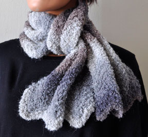 Inca Knitting Patterns : Clouds & Fog Scarf - Inca Clouds - Crystal Palace Yarns