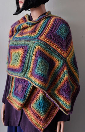 Mitered Squares Stole (or Scarf)