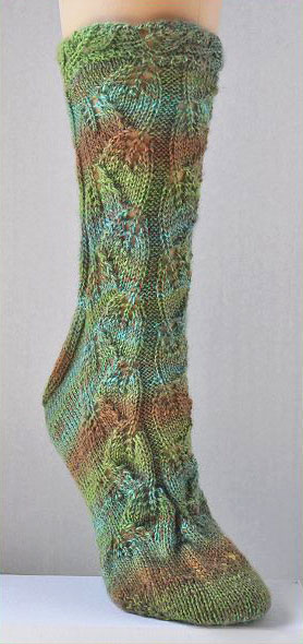 My Secret Garden Socks Sausalito Crystal Palace Yarns