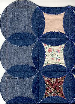 The Vintage Craft Basket Free Quilt Pattern Circle Blue