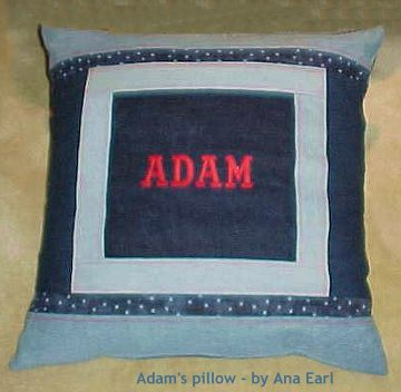 Ana Earl's Jeans Quilt pillow